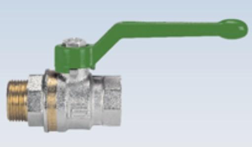 """Trinkwasser Kugelhahn 1/2"""" IG/AG mit langen Griff DVGW konform"""