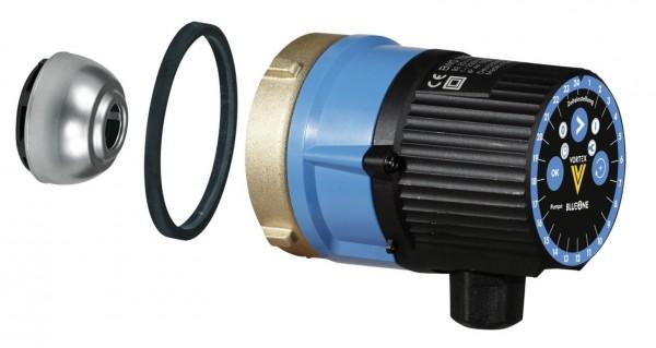 Vortex MOTOR für Trinkwasser Zirkulationspumpe mit Zeitschaltuhr BWO 155 Z