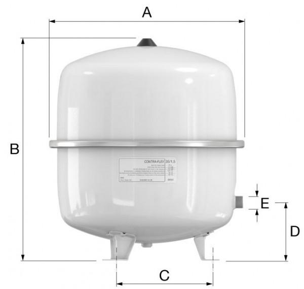 Beliebt Flamco Contra Flex 35 Liter Heizung Ausdehnungsgefäß 1,5bar SM25