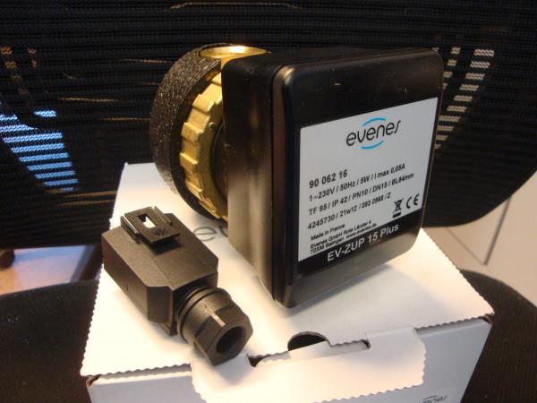 """Evenes Trinkwasser Zirkulationspumpe EV-ZUP 15 Plus 1/2"""" 84mm BL"""