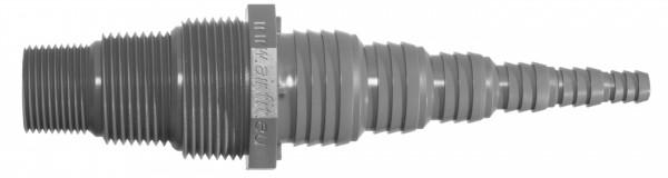 """Airfit PVC Pumpennippel 3/4"""" 1"""" 1 1/4"""" auf 8mm 10mm 13mm 19mm 25mm Schlauchnippel"""
