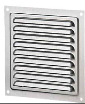 Aluminium Wetterschutzgitter Anthrazit Lüftungsgitter 150mm x 150mm
